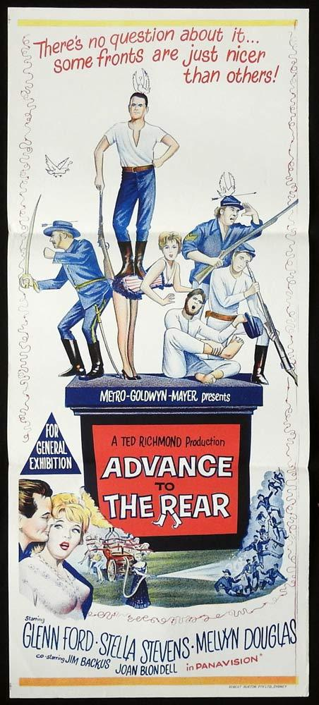 ADVANCE TO THE REAR Original Daybill Movie Poster Glenn Ford Stella Stevens