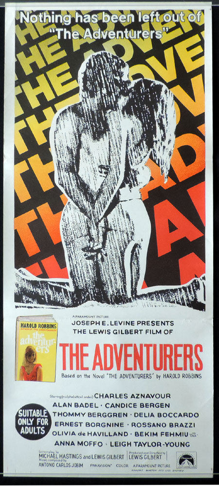 THE ADVENTURERS Original Daybill Movie Poster Olivia de Havilland Harold Robbins