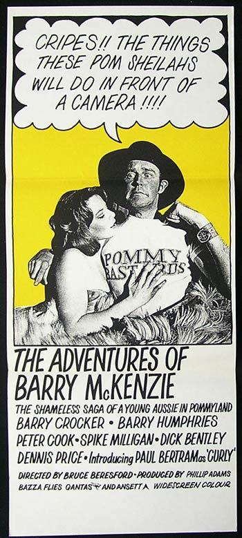ADVENTURES OF BARRY MCKENZIE Original Daybill Movie Poster