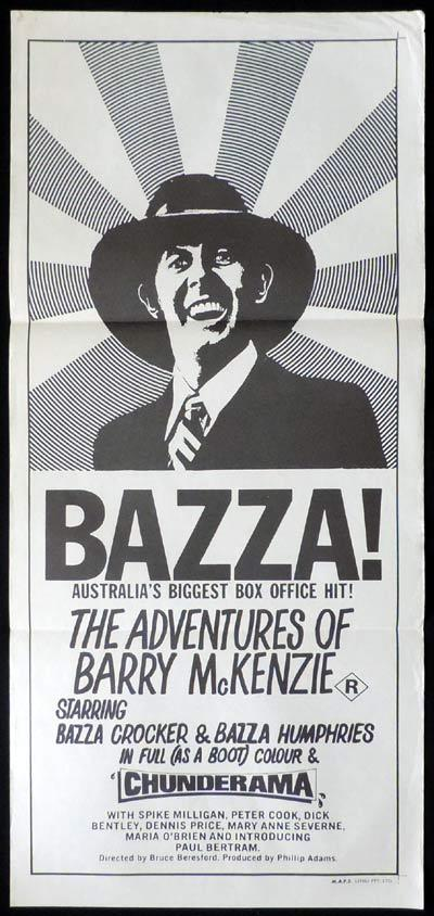 ADVENTURES OF BARRY MCKENZIE Daybill Movie poster Barry Humphries Chunderama