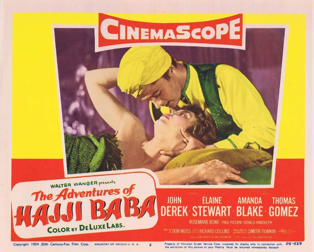 ADVENTURES OF HAJJI BABA Original Lobby Card 8 John Derek
