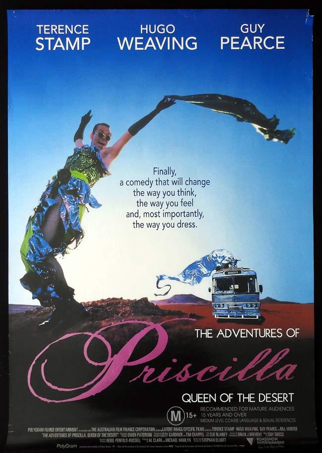 ADVENTURES OF PRISCILLA QUEEN OF THE DESERT Original One sheet Movie poster Hugo Weaving