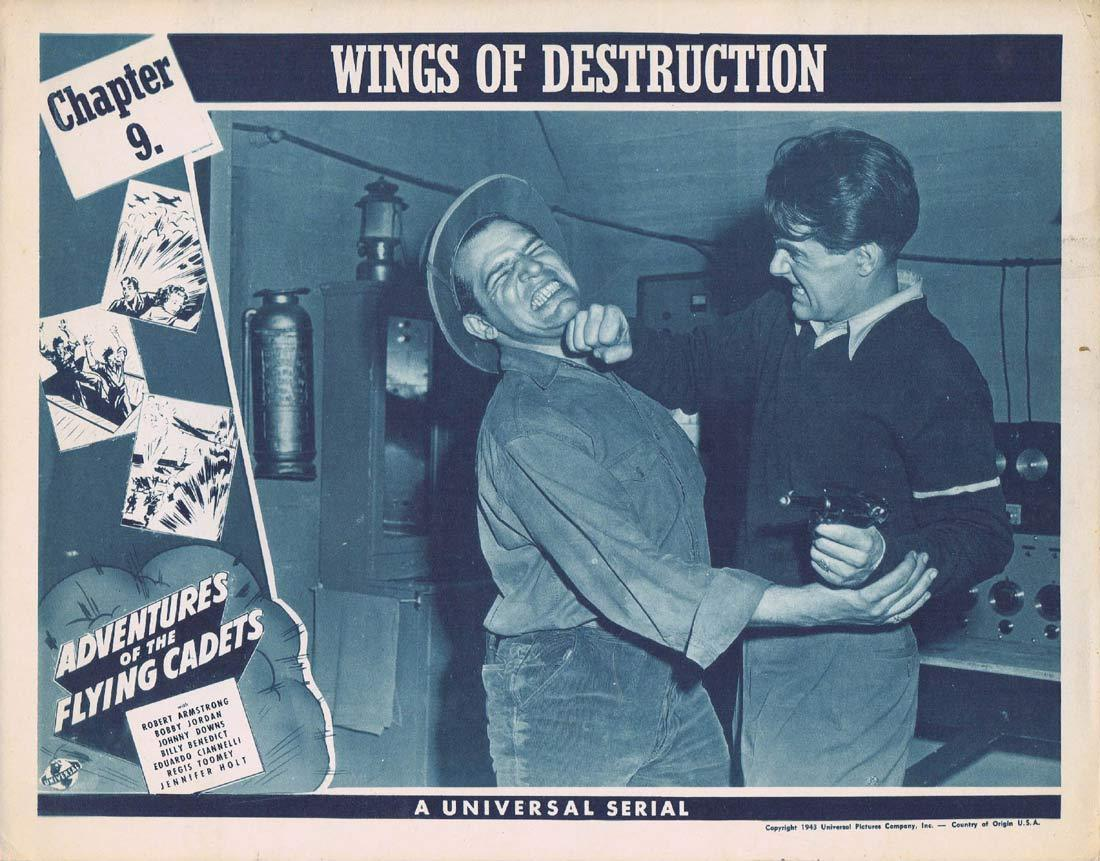 ADVENTURES OF THE FLYING CADETS Original Lobby Card Chapter 9 Universal Serial Johnny Dows