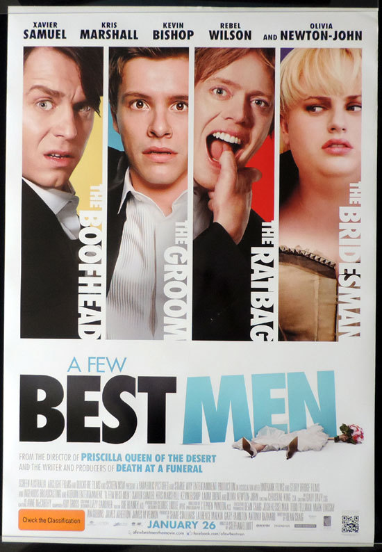 A FEW BEST MEN Movie poster Rebel Wilson Xavier Samuel Australian Cinema One sheet
