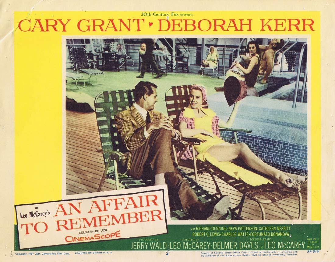 AN AFFAIR TO REMEMBER Original Lobby Card 2 Cary Grant Deborah Kerr