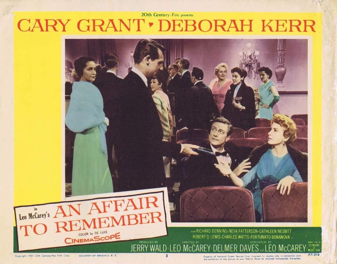 AN AFFAIR TO REMEMBER Original Lobby Card 3 Cary Grant Deborah Kerr