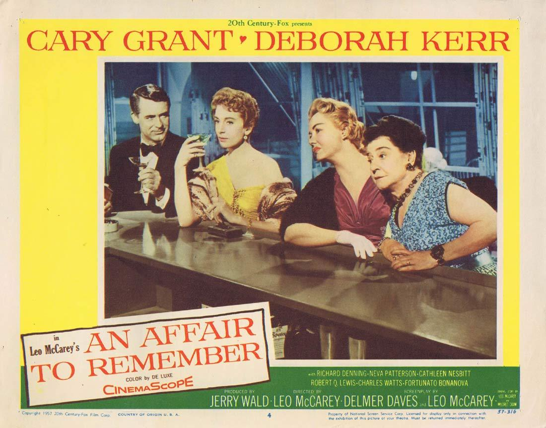 AN AFFAIR TO REMEMBER Original Lobby Card 4 Cary Grant Deborah Kerr