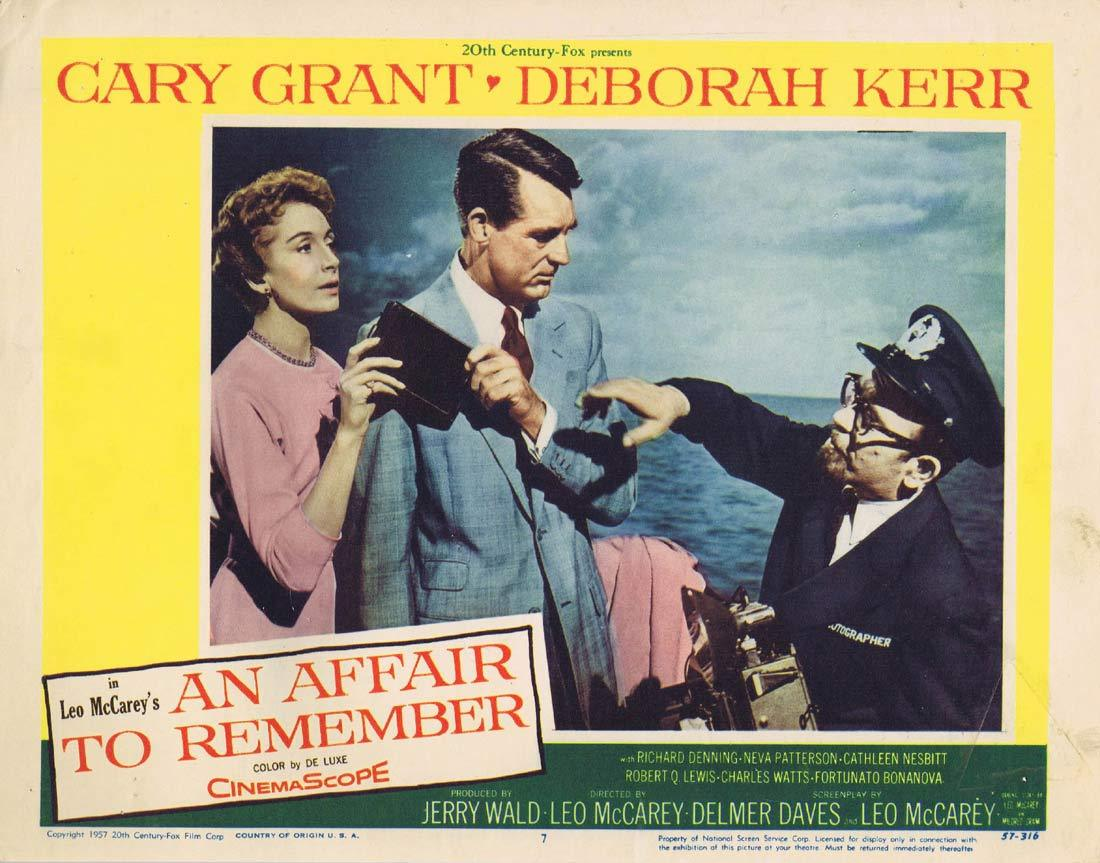 AN AFFAIR TO REMEMBER Original Lobby Card 7 Cary Grant Deborah Kerr