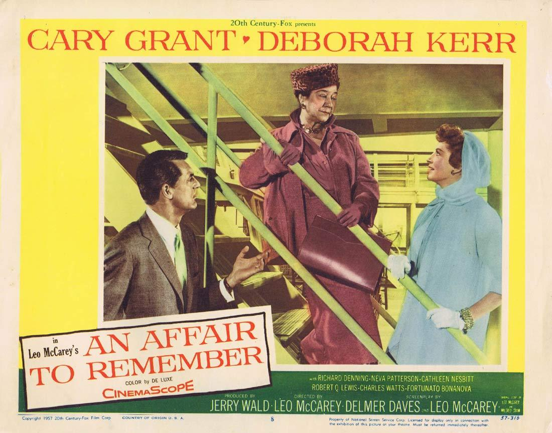 AN AFFAIR TO REMEMBER Original Lobby Card 8 Cary Grant Deborah Kerr