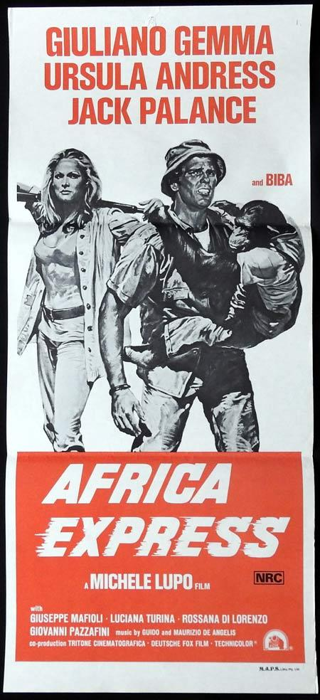 AFRICA EXPRESS Original Daybill Movie PosterGiuliano Gemma Ursula Andress Jack Palance