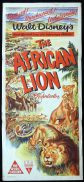 THE AFRICAN LION Original Daybill Movie Poster 1955 RKO