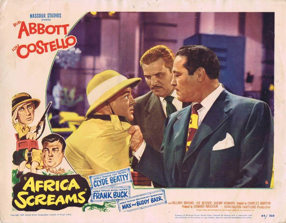 AFRICA SCREAMS Lobby card 8 Abbott and Costello 1949
