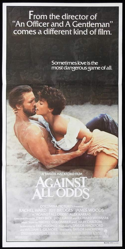 AGAINST ALL ODDS Original Daybill Movie Poster Rachel Ward Jeff Bridges