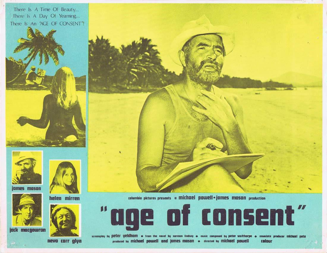 AGE OF CONSENT Original Lobby Card 2 James Mason Helen Mirren