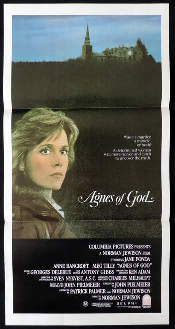AGNES OF GOD Daybill Movie poster Jane Fonda