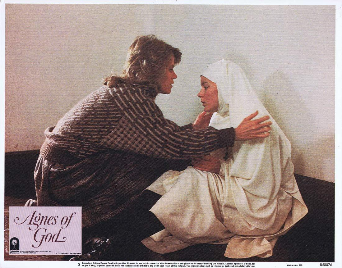 AGNES OF GOD Original Lobby Card 2 Anne Bancroft Jane Fonda