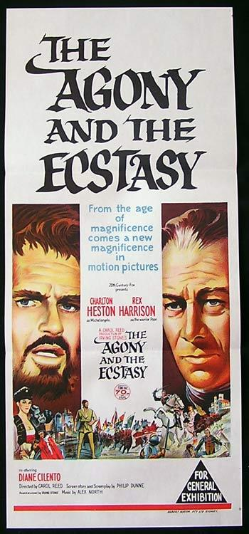 THE AGONY AND THE ECSTASY Original Daybill Movie Poster Charlton Heston