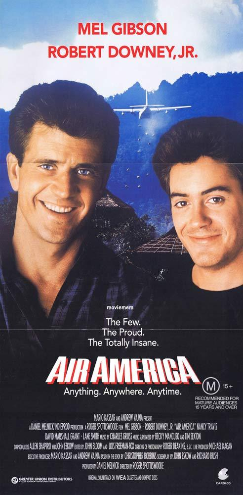 AIR AMERICA Daybill Movie Poster Mel Gibson Robert Downey Jnr