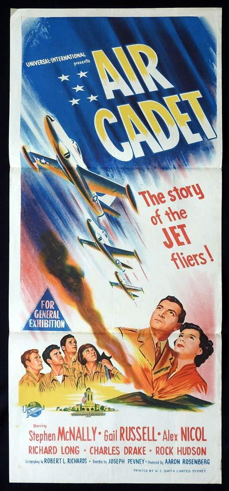 AIR CADET Original Daybill Movie poster Stephen McNally Gail Russell