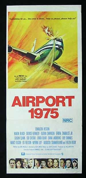 AIRPORT 1975 Original Daybill Movie Poster Chalrton Heston