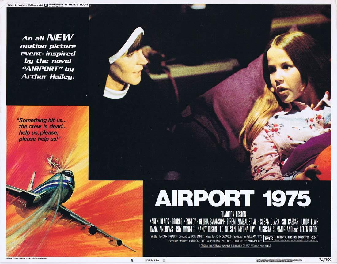 AIRPORT 1975 Original Lobby Card 8 Linda Blair