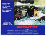 AIRPORT '77 Lobby Card 4 James Stewart Aircraft Ditching