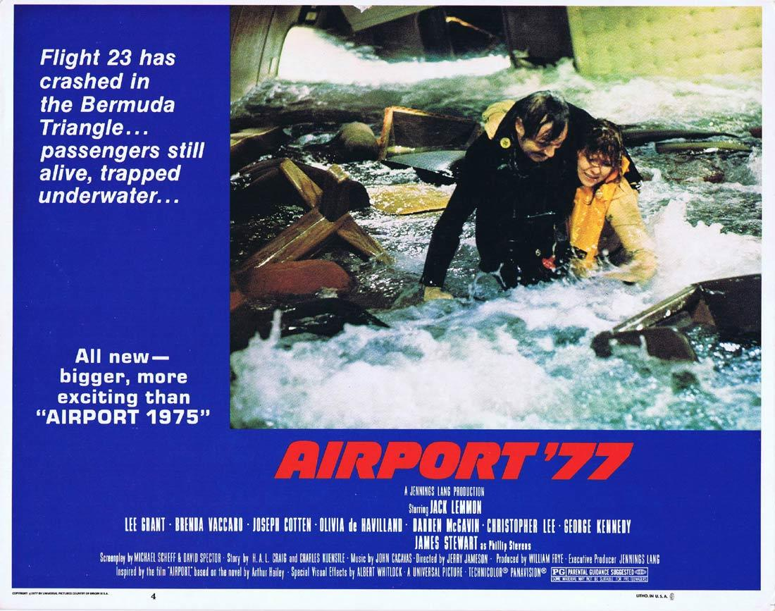 Airport '77, Jerry Jameson, Jack Lemmon, Lee Grant, James Stewart, George Kennedy, Brenda Vaccaro, Christopher Lee, Joseph Cotten, Olivia de Havilland