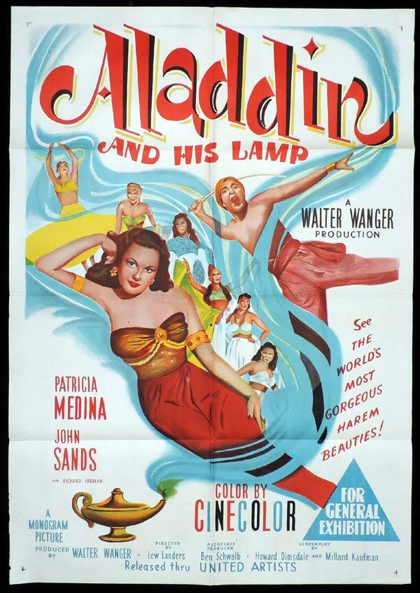ALADDIN AND HIS LAMP One Sheet Movie Poster Patricia Medina