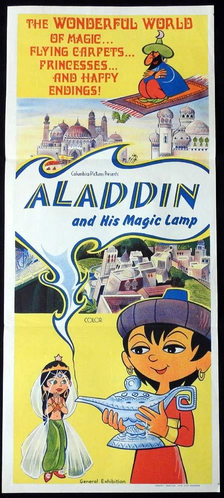 ALADDIN AND HIS MAGIC LAMP Original Daybill Movie Poster 1960s Columbia Pictures