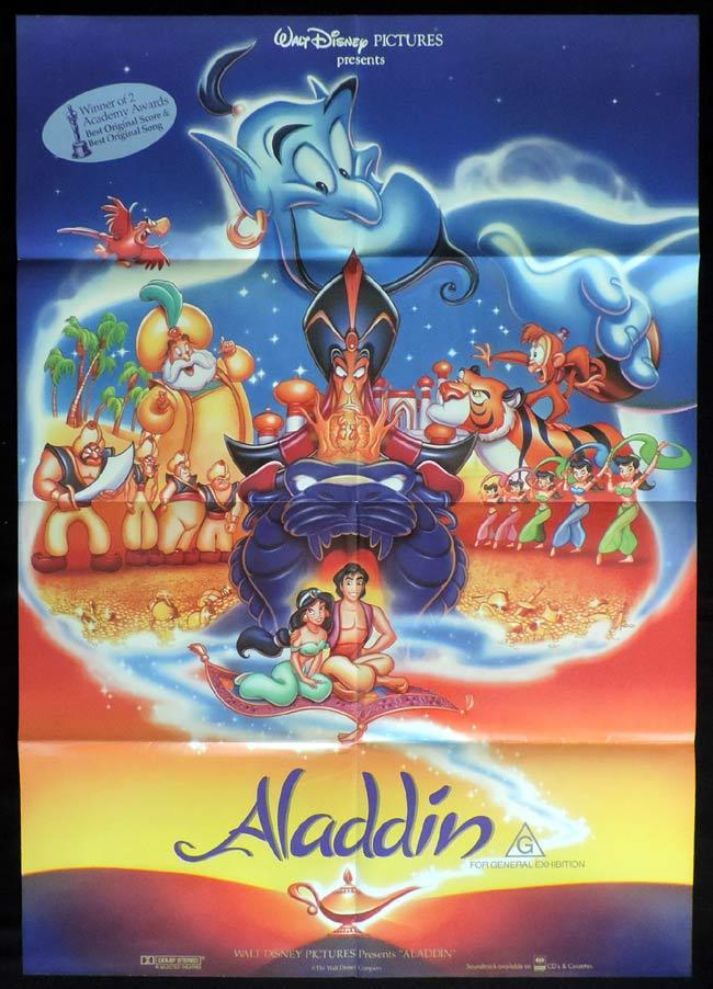 ALADDIN One Sheet Movie Poster Robin Williams Disney