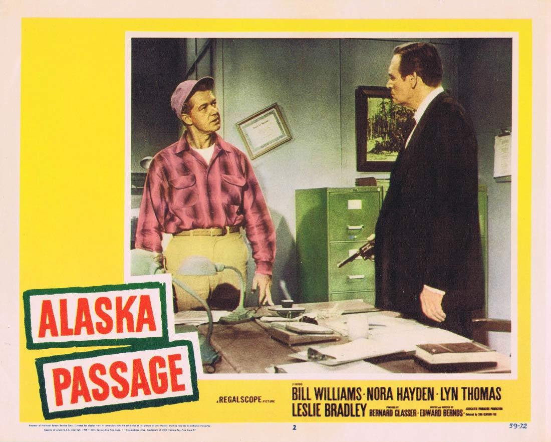 ALASKA PASSAGE Lobby Card 2 Bill Williams Naura Hayden Lyn Thomas