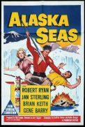 ALASKA SEAS Original One sheet Movie Poster Robert Ryan Jan Sterling Brian Keith