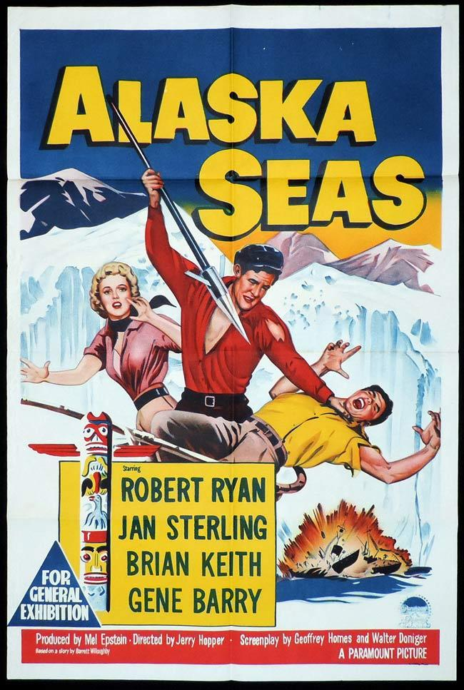 ALASKA SEAS, Original One sheet, Movie Poster, Robert Ryan, Jan Sterling, Brian Keith