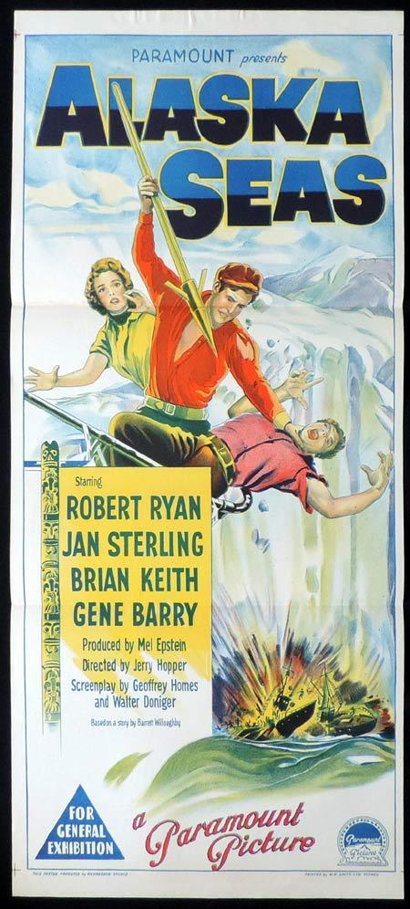 ALASKA SEAS Original Daybill Movie Poster ROBERT RYAN Jan Sterling Richardson Studio