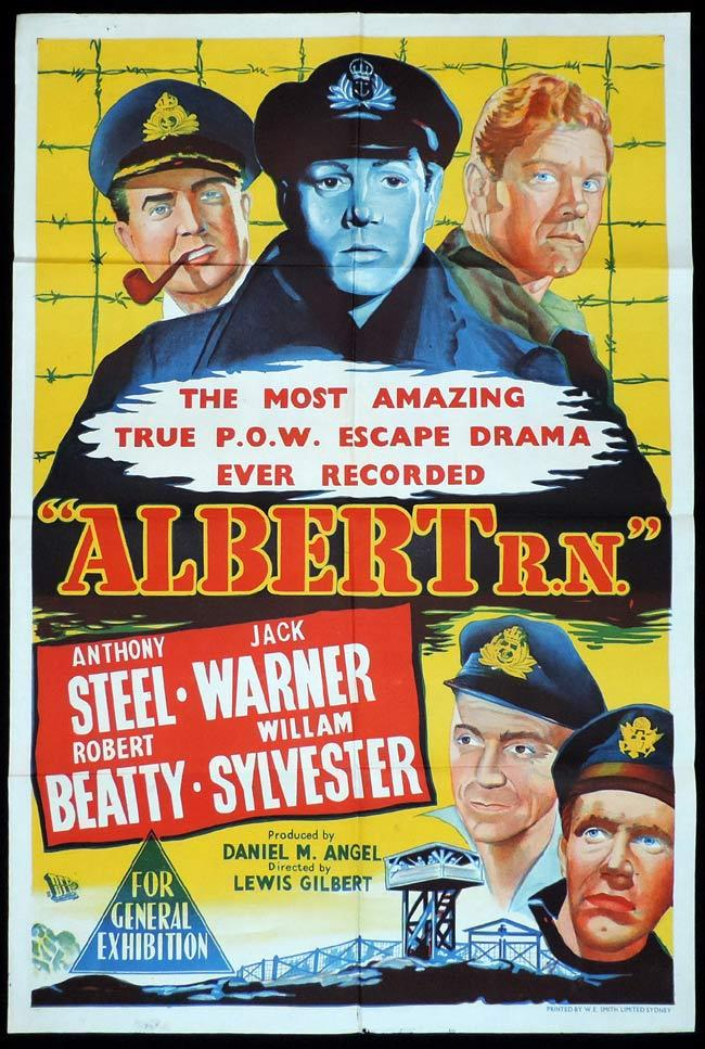 ALBERT R.N Original One sheet Movie Poster Anthony Steel Jack Warner Robert Beatty