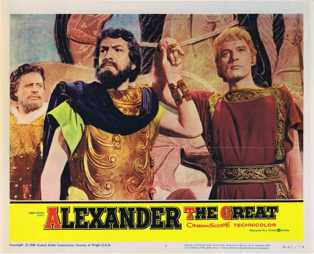 ALEXANDER THE GREAT 1960r Lobby Card 7 Richard Burton Fredric March Claire Bloom