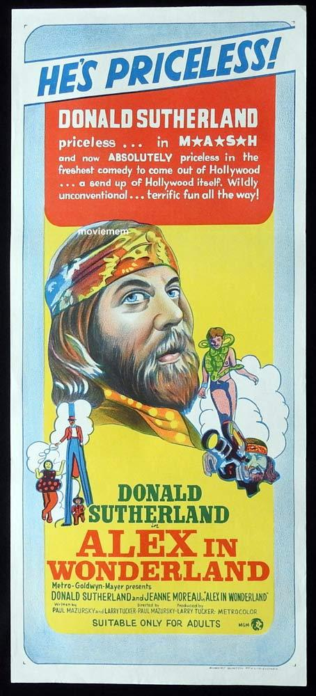ALEX IN WONDERLAND Original Daybill Movie Poster Donald Sutherland Ellen Burstyn