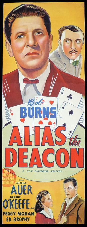 ALIAS THE DEACON Long Daybill Movie poster Bob Burns Gambling