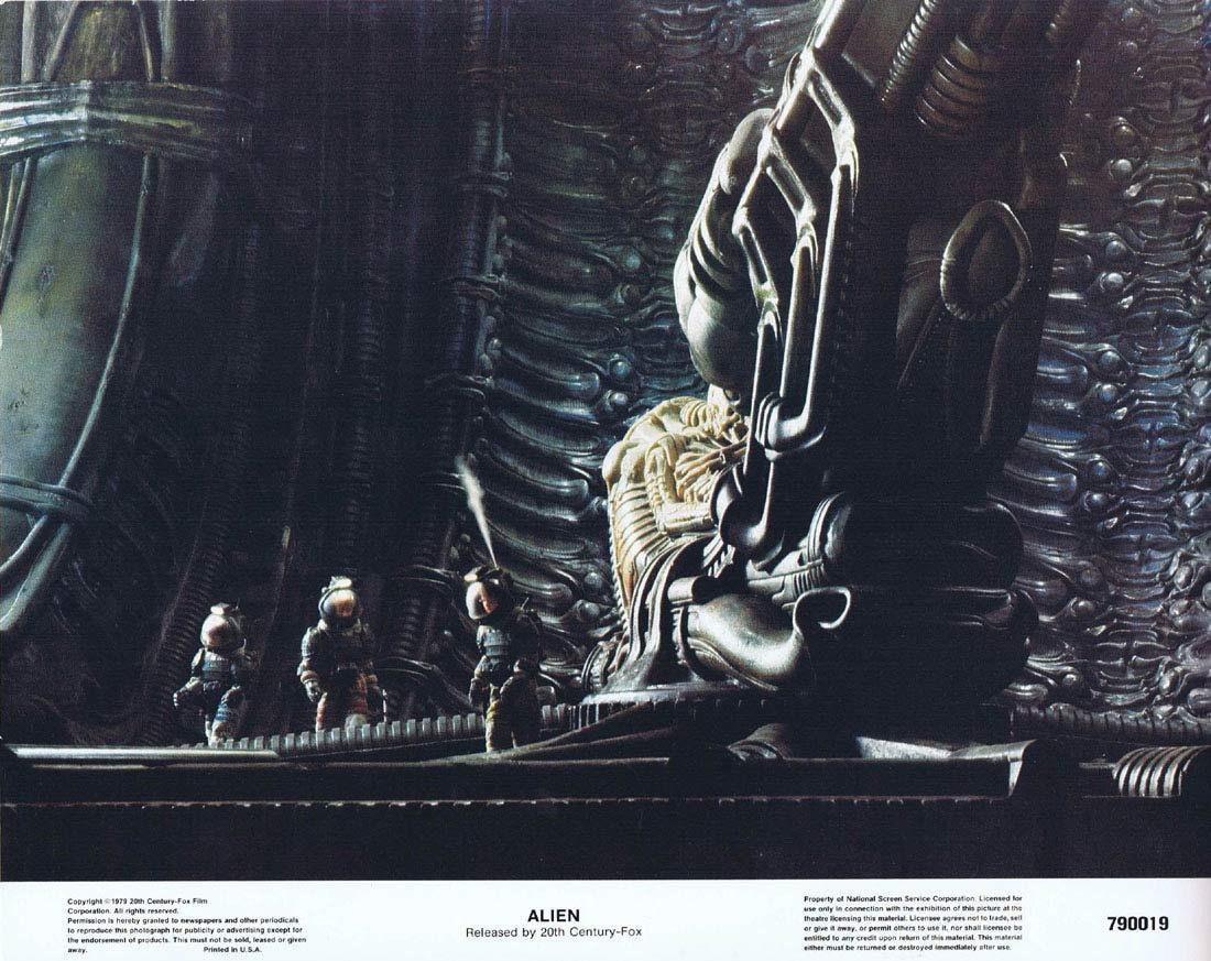 ALIEN Lobby Card 1 Ridley Scott Sigourney Weaver Sci Fi Horror