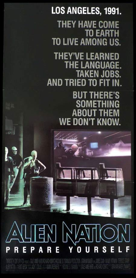 ALIEN NATION Original daybill Movie poster James Caan Sci FI