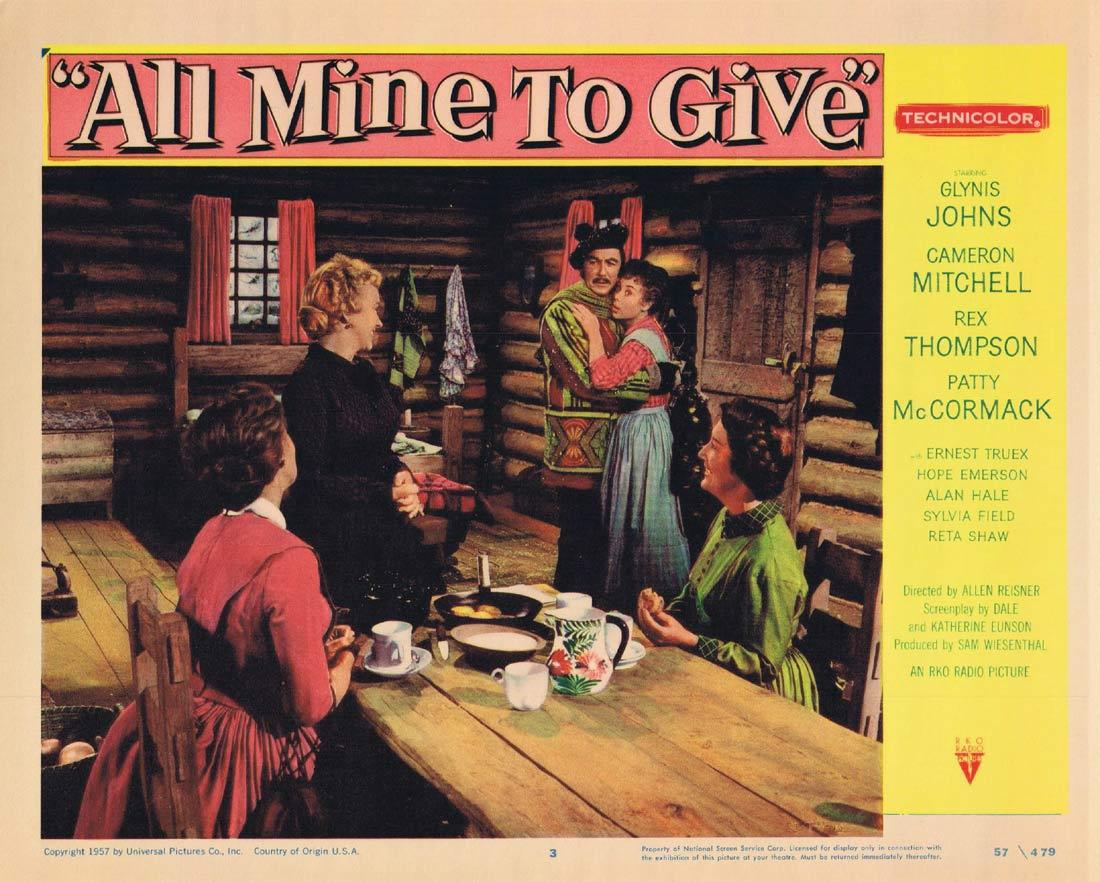 ALL MINE TO GIVE Lobby Card 3 Glynis Johns Cameron Mitchell Rex Thompson
