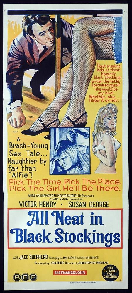 ALL NEAT IN BLACK STOCKINGS Original Daybill Movie Poster