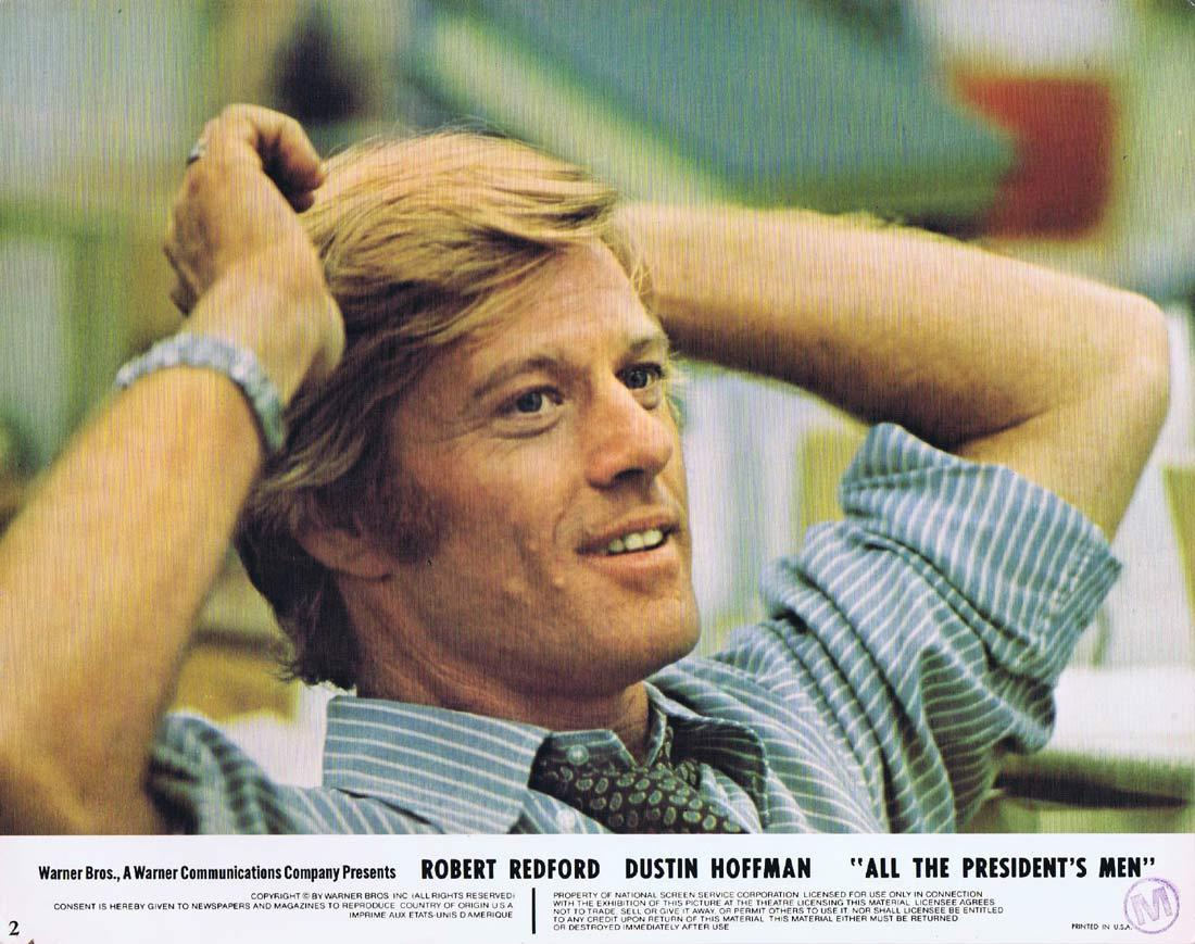 ALL THE PRESIDENT'S MEN Original Lobby Card 2 Robert Redford Dustin Hoffman