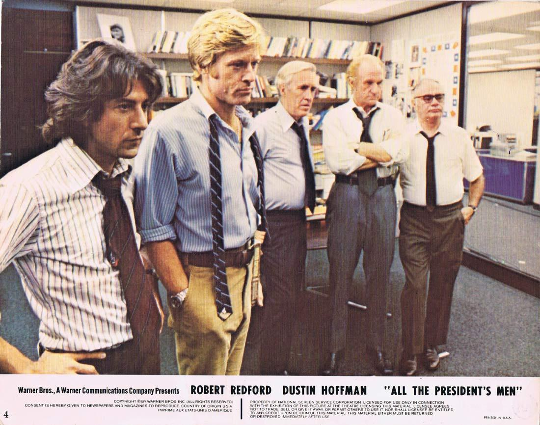 ALL THE PRESIDENT'S MEN Original Lobby Card 4 Robert Redford Dustin Hoffman