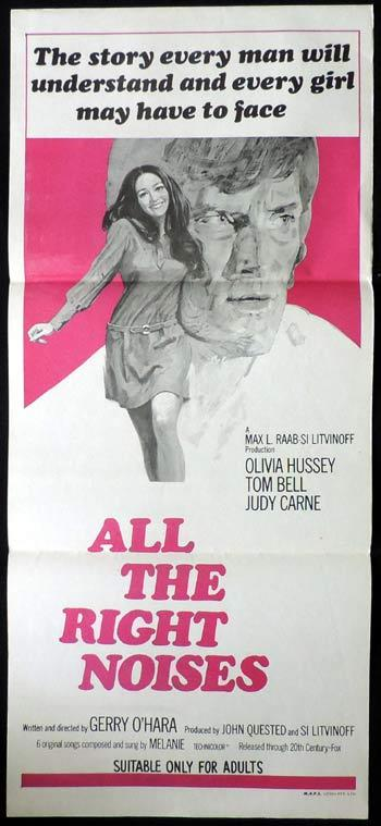 ALL THE RIGHT NOISES Daybill Movie poster Tom Bell