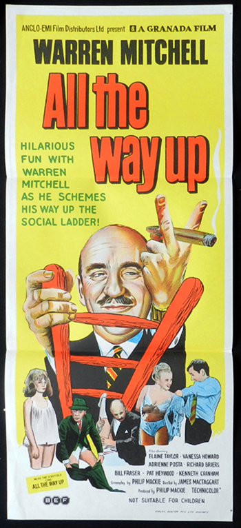 ALL THE WAY UP Daybill Movie poster Warren Mitchell RARE