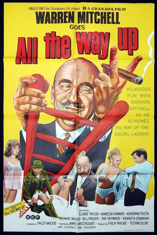 ALL THE WAY UP Original One sheet Movie Poster Warren Mitchell Pat Heywood Kenneth Cranham