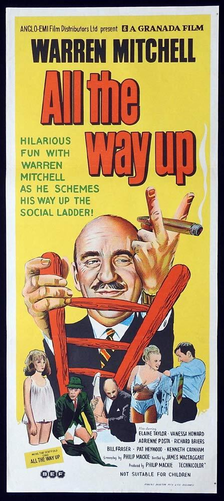 ALL THE WAY UP Original Daybill Movie poster Warren Mitchell Pat Heywood