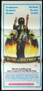 ALL THIS AND WWII Daybill Movie Poster 1976 THE BEATLES Lennon and McCartney