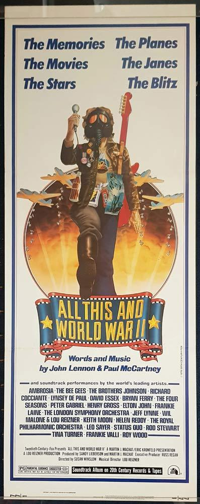 ALL THIS AND WORLD WAR II Original US Insert Movie poster Beatles